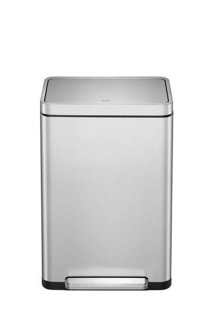 פח EKO אנטי בקטריאלי נירוסטה 45 ליטר למטבח