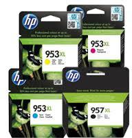 סט 4 ראשי דיו מקורי HP957XL שחור + HP953XL (אדום + כחול + צהוב)