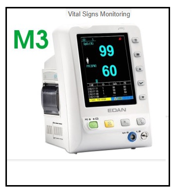 M3  מד לחץ דם משולב דופק וחום