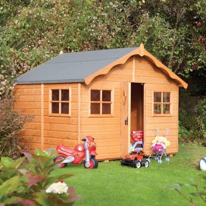 """בית ילדים מעץ לילדים 2.1/2.5 """"קוטג"""
