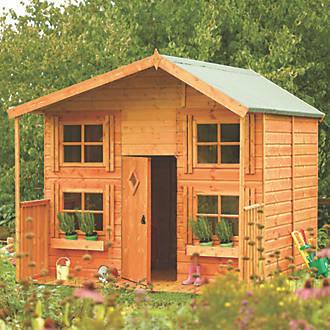 בית מעץ לילדים 2.5X2.5 בקתת מחבואים גארדן איקס