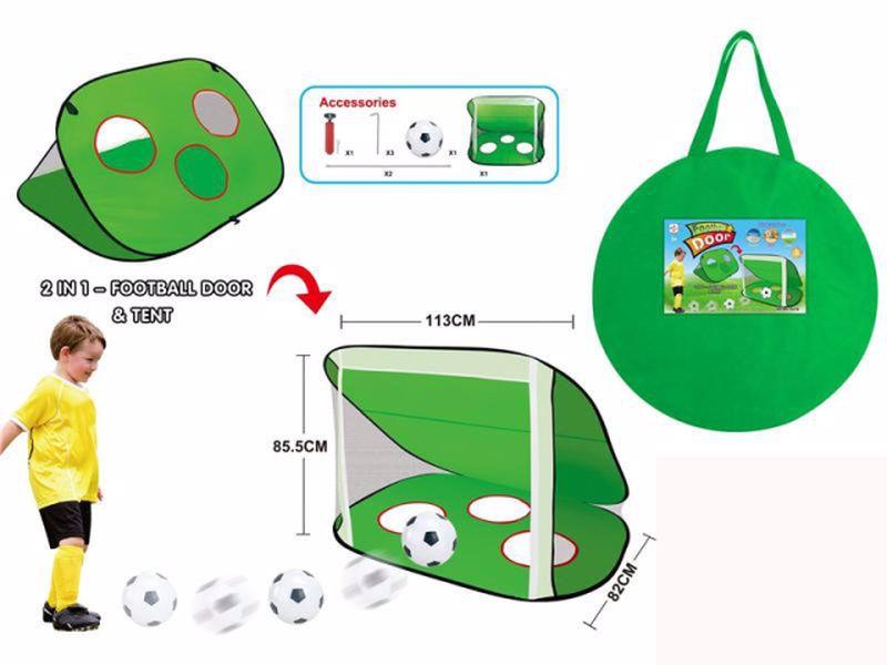 """שער כדורגל מתקפל-2 מצבים מטר על 80 ס""""מ"""
