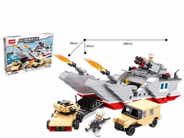 לגו נושאת מטוסים עם חיילים וטנקים 486 חלקים