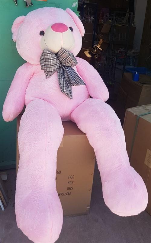 דובי 2 מטר 10 קילו בצבע וורוד