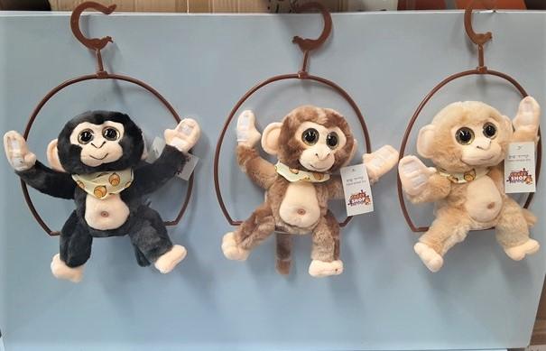 בובת קוף מקליטה ומשעשעת