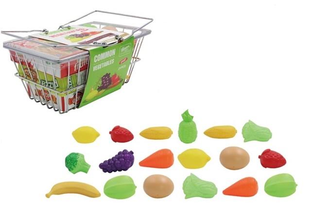 סלסלת מתכת עם ירקות