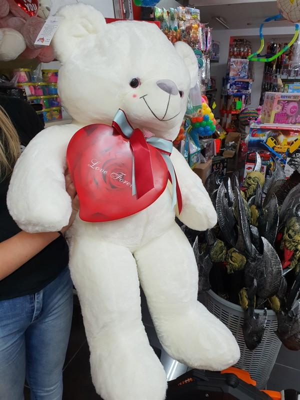 """דובי ליום אהבה!עם קופסא מתמגנטת,90 ס""""מ"""