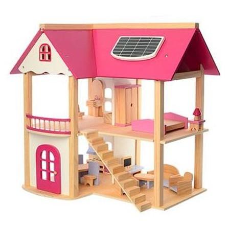 בית בובות מפואר מעץ אמיתי
