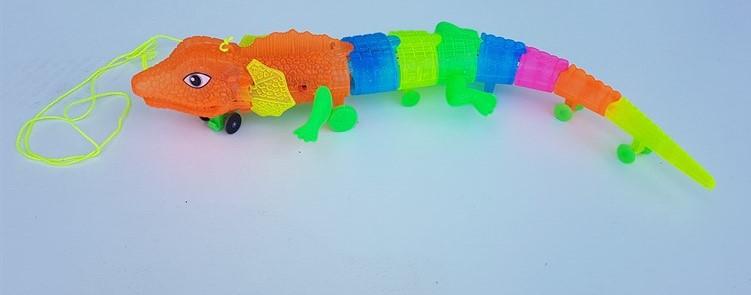תנין צבעוני עם אורות לד מסתובב