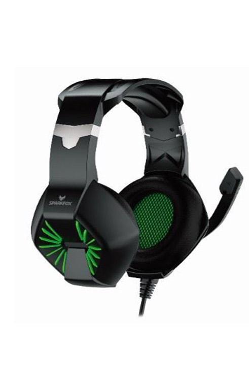 אוזניות גיימינג ספארקפוקס A1 ירוק