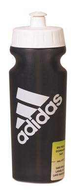 בקבוק שתייה אדידס שחור עם פקק לבן