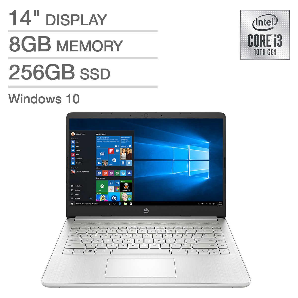 HP 14 i3-1005G1 8GB 256SSD מחשב נייד