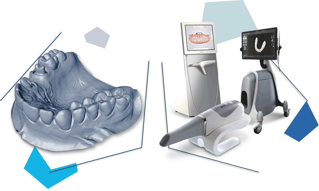 dental cad design and oral scanner