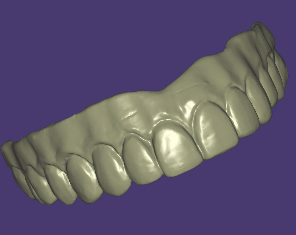 Copy mill from an existing denture